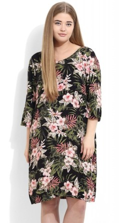 Black Floral Printed Dress, Rs 2299