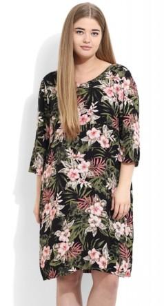 Black Floral Printed Dress, Rs 2299